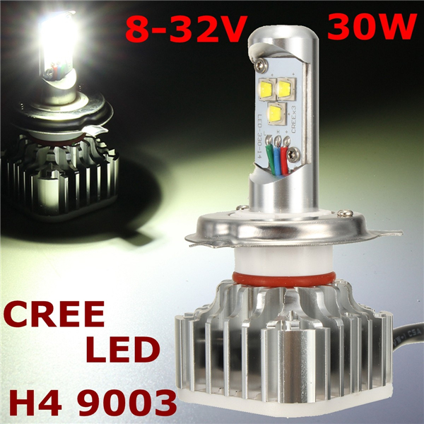 8-32V H4 9003 6000K 3000LM Waterproof Motorcycle Car LED Cree He