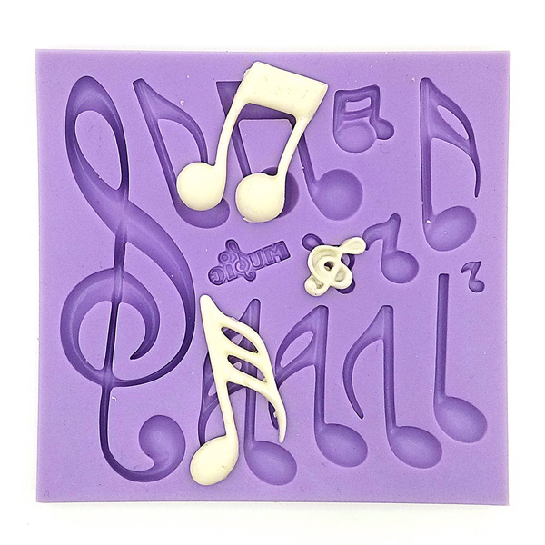 Musical Notes Fondant Cake Mold Silicone Mould Cake Decorating T