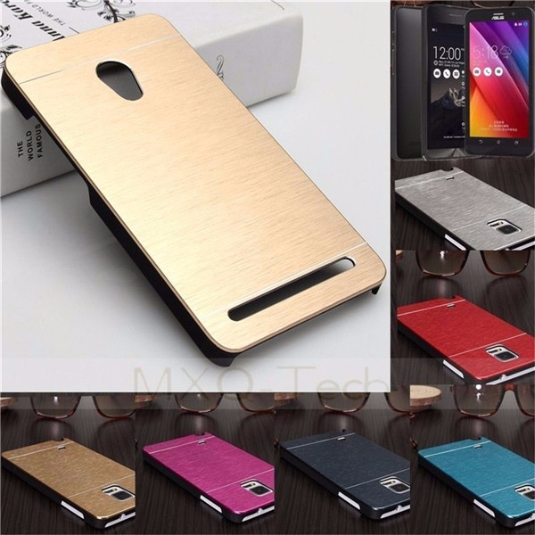 Brushed Metal Hard Cover Case For Asus Zenfone 2 ZE550ML ZE551ML