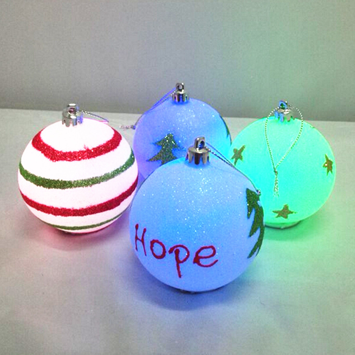 Battery LED Christmas Tree Baubles Hanging Decoration Ball Chris