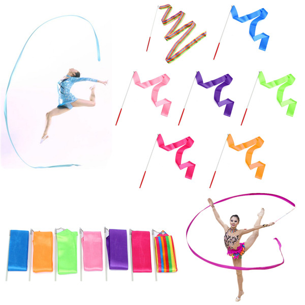 Exercising Gymnastics Ballet Streamer Colored Belt Slimming Eury
