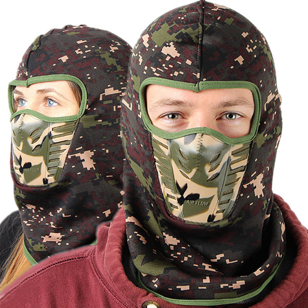 Camouflage Unisex Balaclavas Warm Winter Cheek Neck CS Hat Ski H