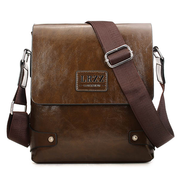 Men Business PU Casual Male Messenger Shoulder Crossbody Bag Bri