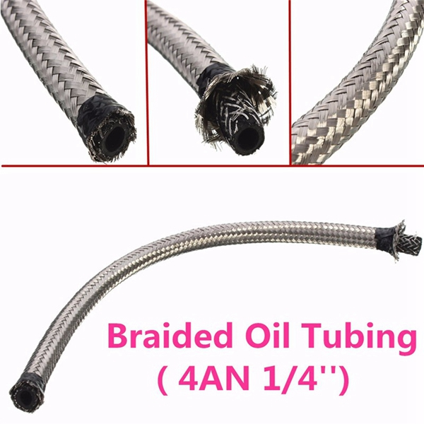 4AN 1/4inch Stainless Steel Oil Cold Pipe Tubing High Temperatur