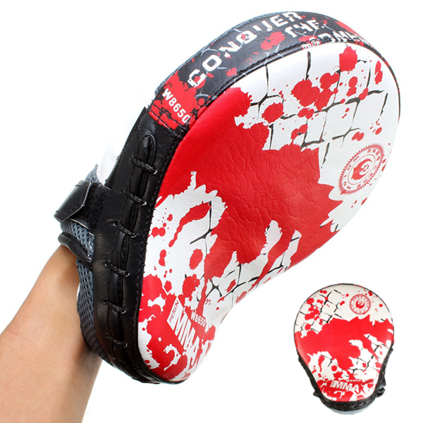 Hand Target MMA Boxing Mitt Focus Punch Pad Training Glove Karat