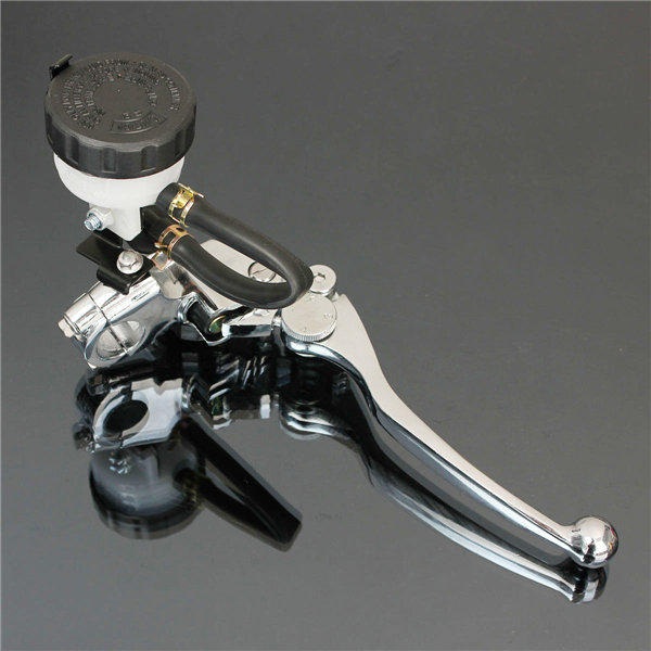 Motorcycle Chrome 7/8inch 22mm Right Brake Master Cylinder Clutc