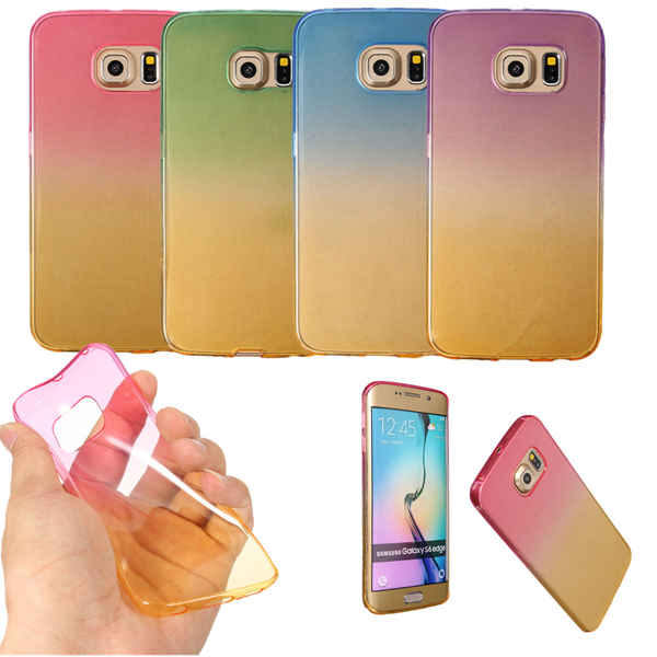 Colorful Fashion Slim Clear Soft TPU Case Cover For Samsung Gala