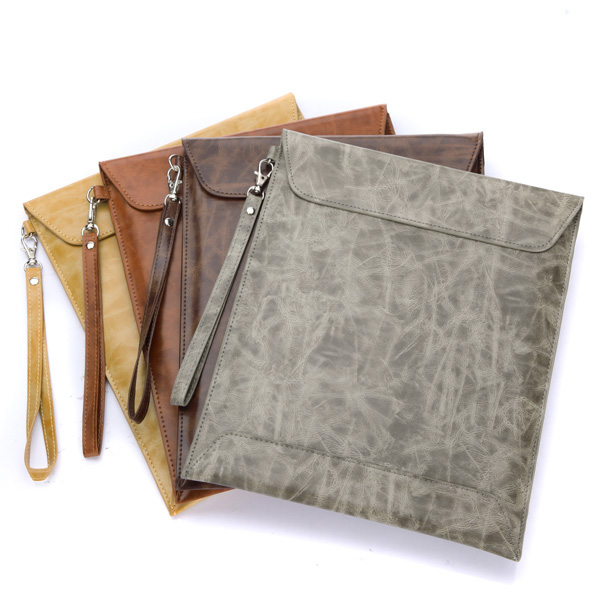 Envelope Leather Sleeve Case Bag With Pouch Strap For iPad