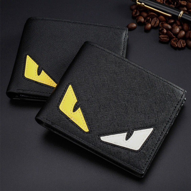 PU Leather Mens Clutch Wallets Creative Cartoon Pattern Card Ho