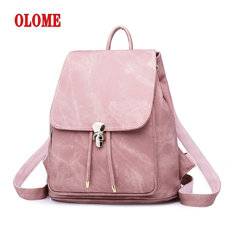 Leather Bag Large Capacity School Bags For Teenager Girls Weave