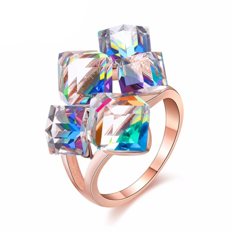Fashion Design Magic cube jewelry  An Austrian crystal ring For
