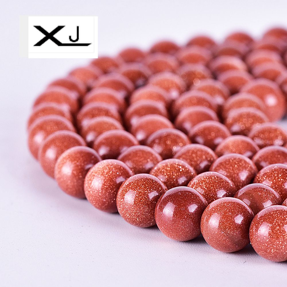 Natural Golden sand stone beads 4 6 8 10 12 14 16 18 20mm Pick