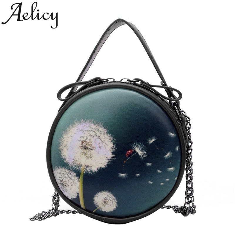 Joker Crossbody Shoulder Bag Simple Tote Casual Wild Mini Round