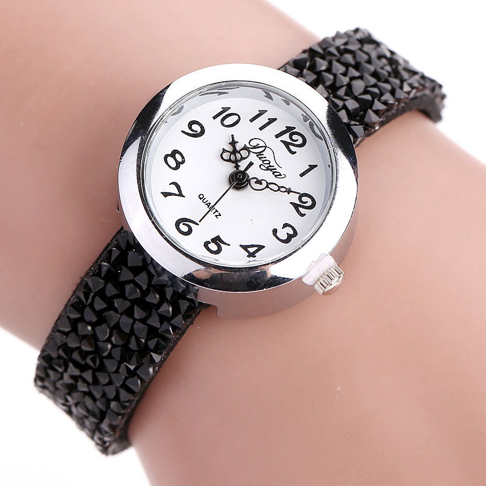 DUOYA DY005 Retro Style Ladies Bracelet Watch Gift Leather Strap