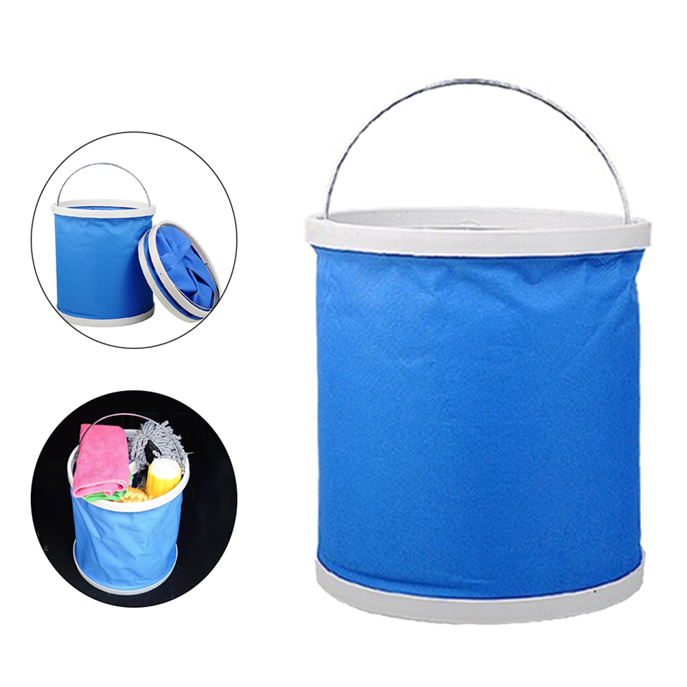 11L Oxford Portable Bucket Foldable Outdoor Hiking Camping Fishi