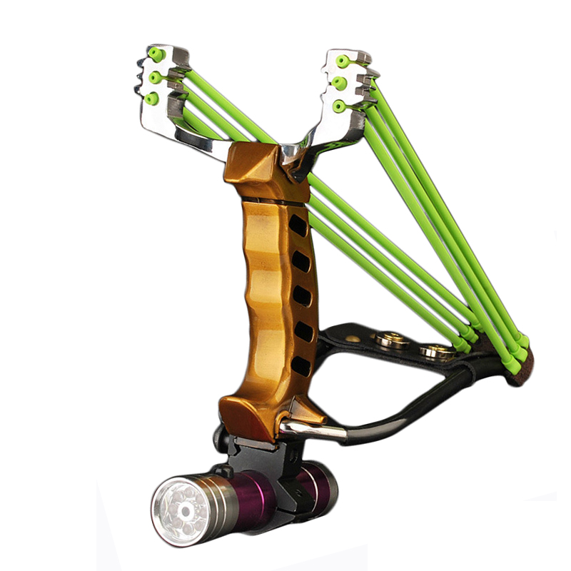 IPRee Outdoor Tactical Metal Slingshot Rubber Band Catapult Camp