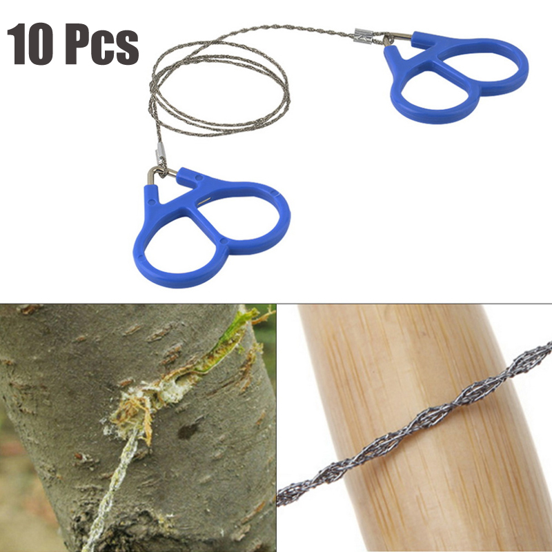 10 Pcs Camping Wire Saw Stainless Steel Travel Garden Branch Fre