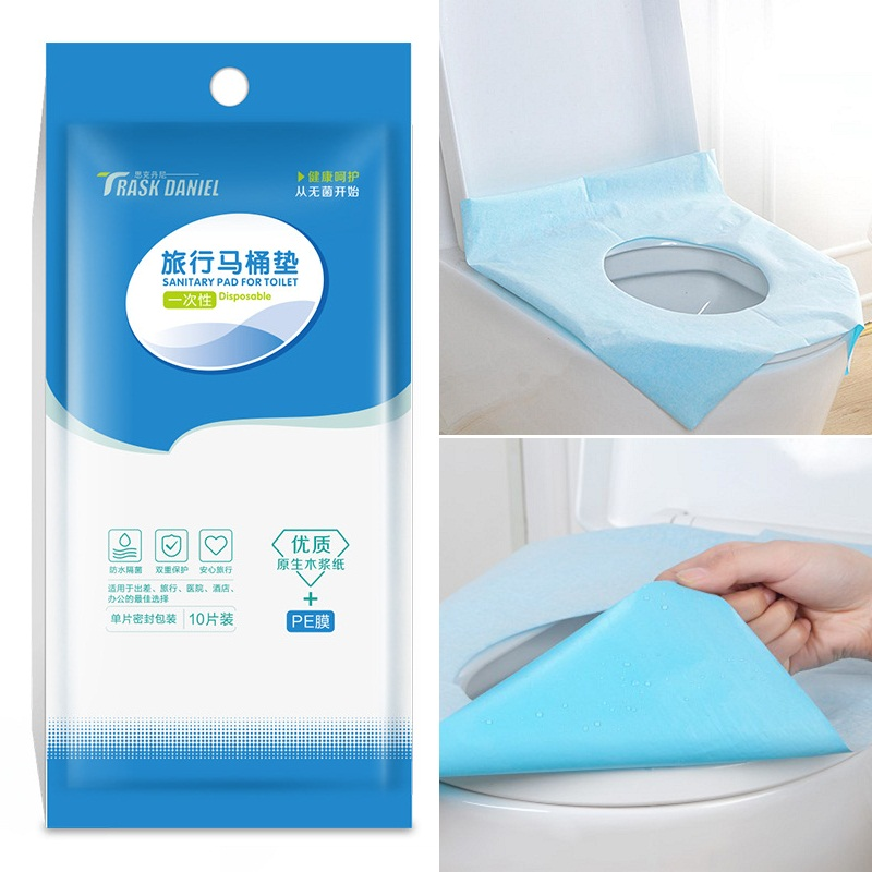 10 Pcs/Pack Disposable Toilet Seat Covers Anti-contact Waterproo