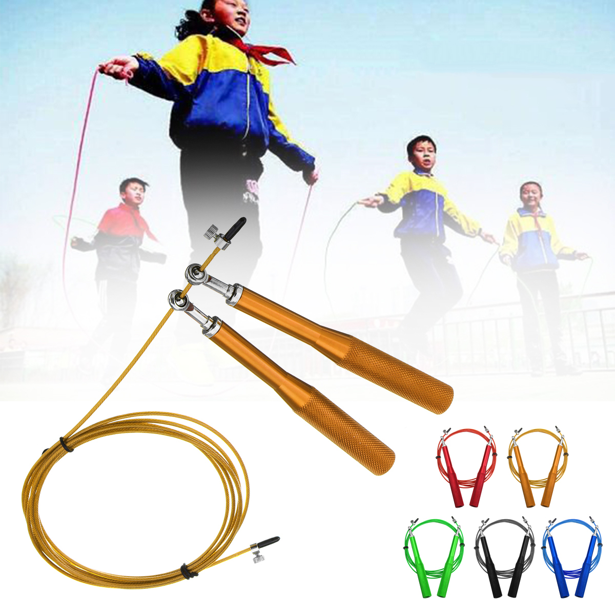 2.8m Skipping Fitness Exercise Rope Jumping Steel Cable Speed Ro