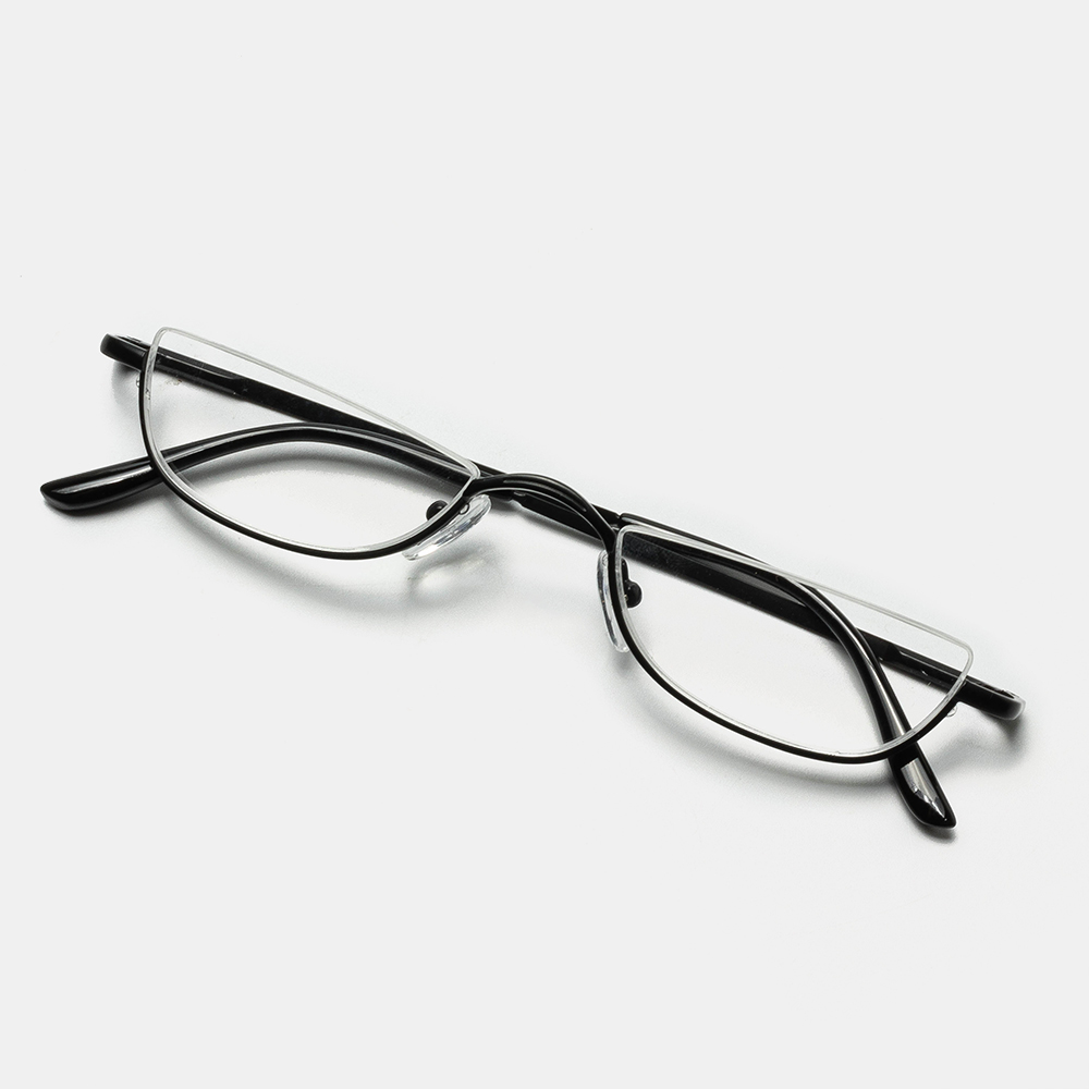 2 Color Half Frame Half Arc Frame Reading Glasses