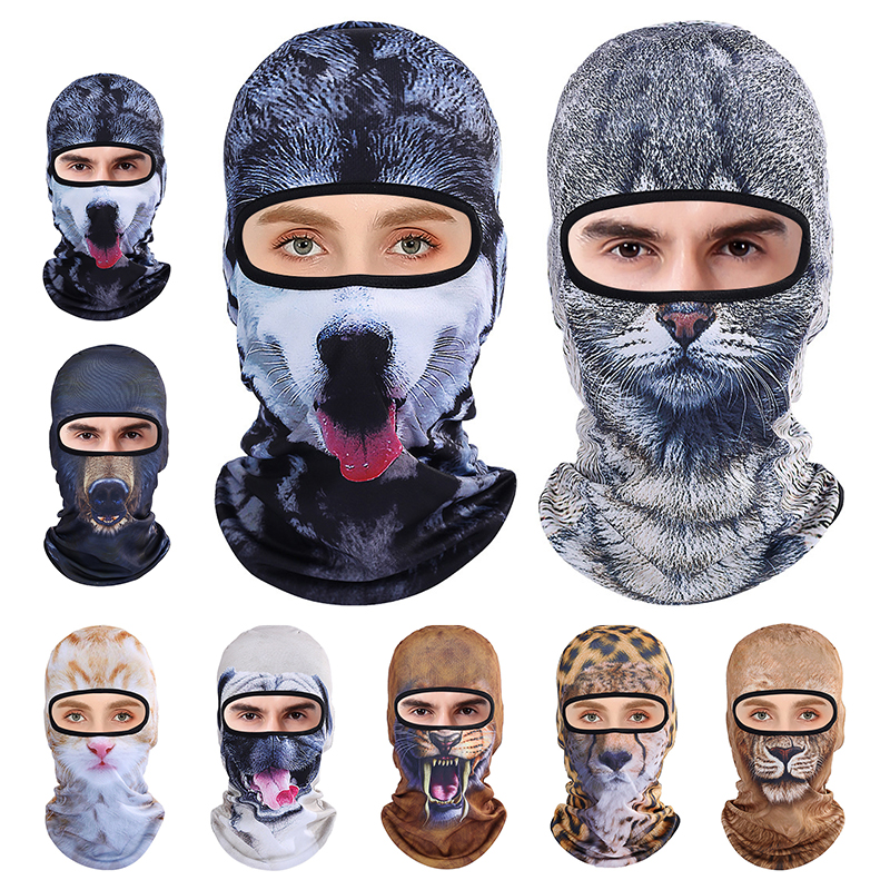 3D Animal Breathable Bicycle Ski Full Face Mask Hats Outdoor Spo