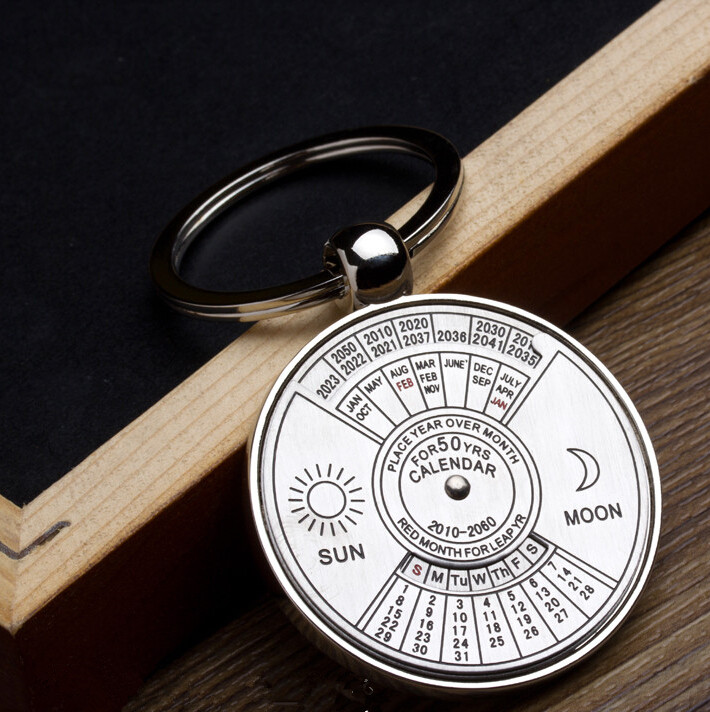 Best Gift 2010 To 2060 Years Calendar Metal Key Chain Personaliz