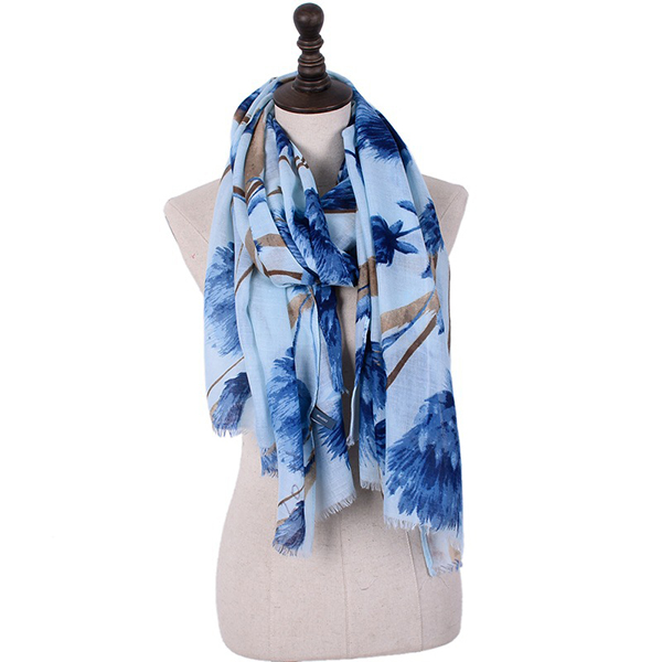 180CM Women Pashmere Flower Soft Scarf Casual Thickening Warm Sh