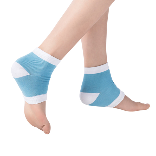 Women Anti-Cracking Gel Socks Nylon Breathable Half Socks Silico