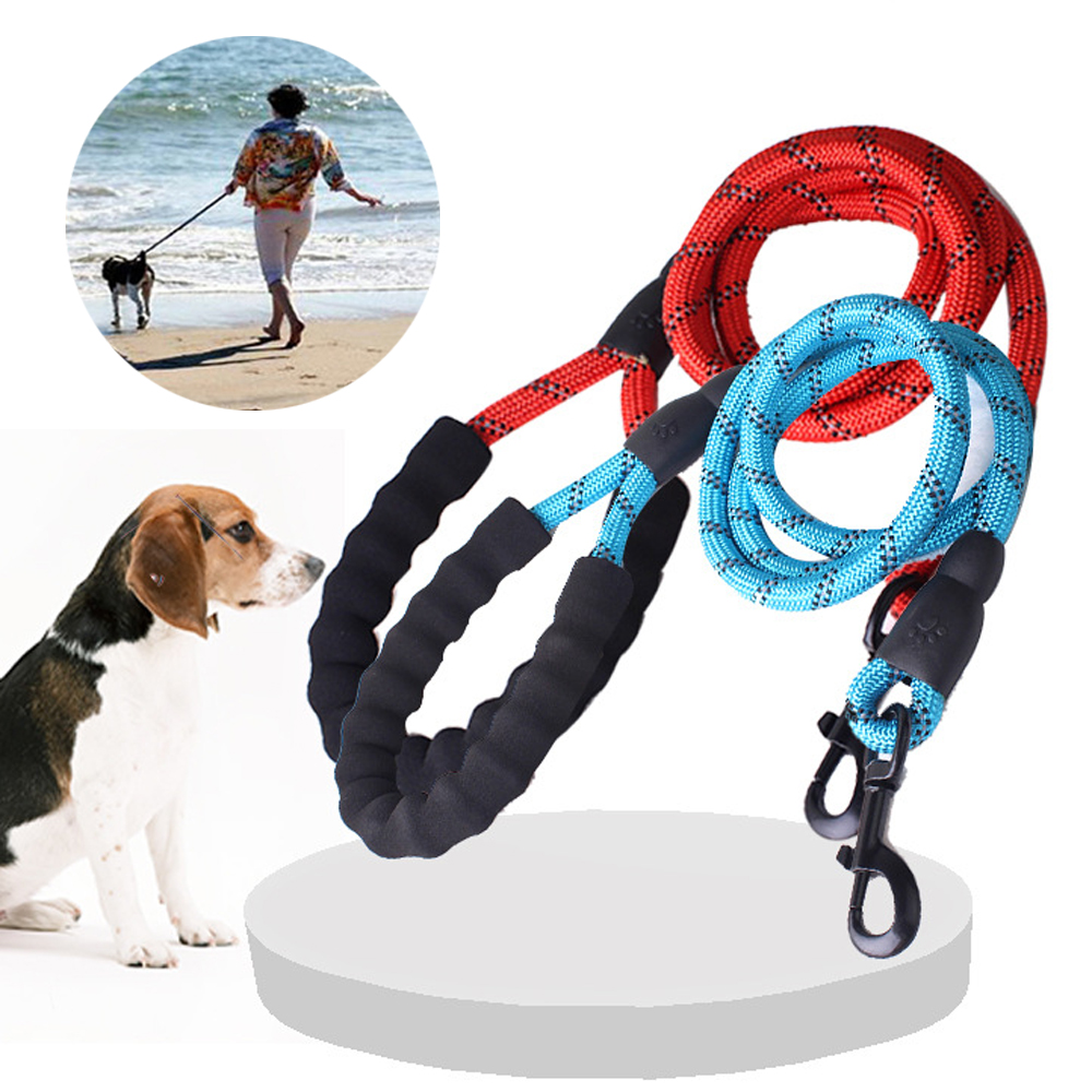 1.2M Durable Nylon Dog Harness Walking Running Leashes Training