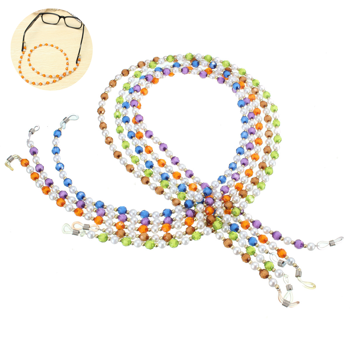 25inch Beaded Sunglasses Neck Lanyard Anti-lost Sun Glasses Chai
