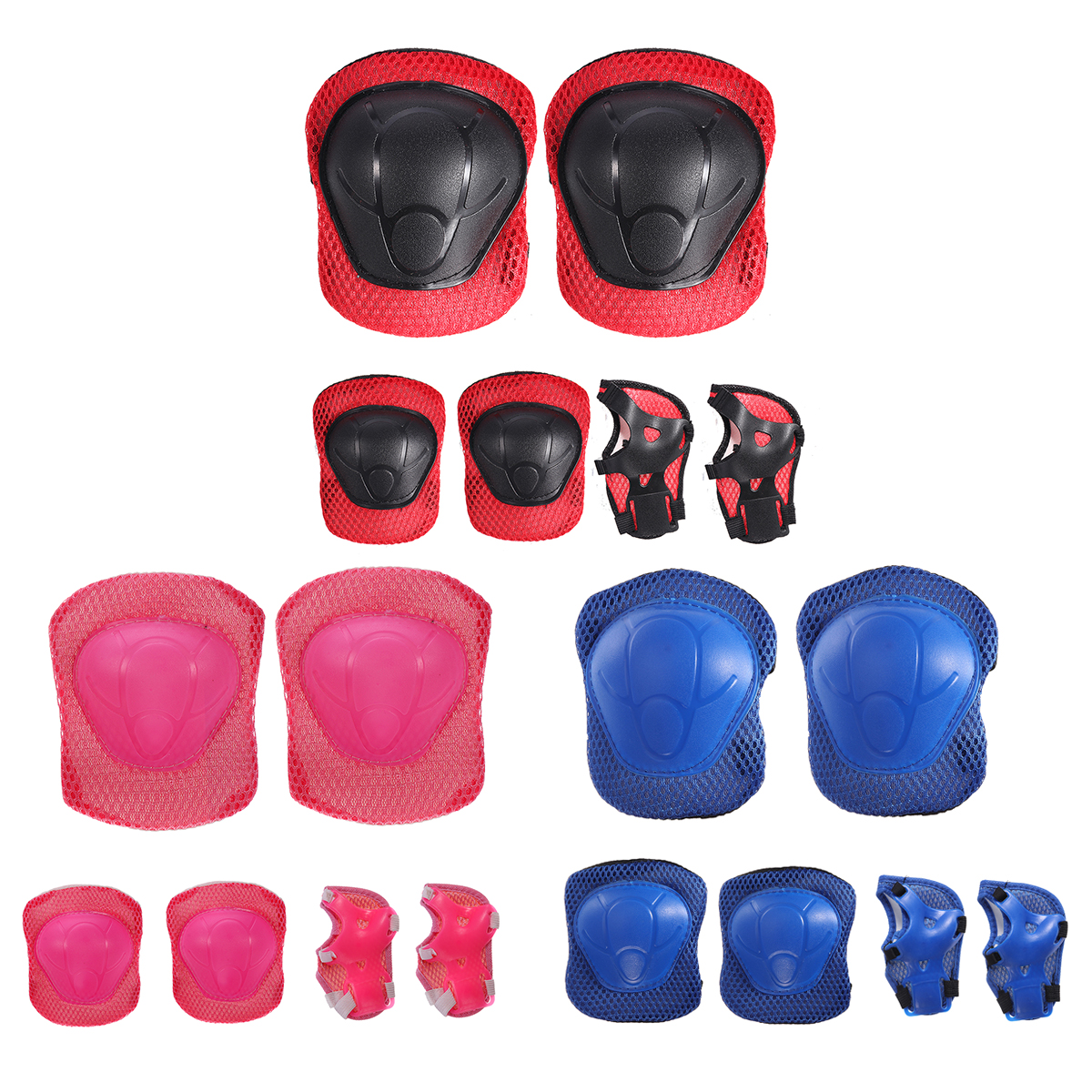 6Pcs/Set Children Skating Bike Protective Gear Sets Knee Elbow P
