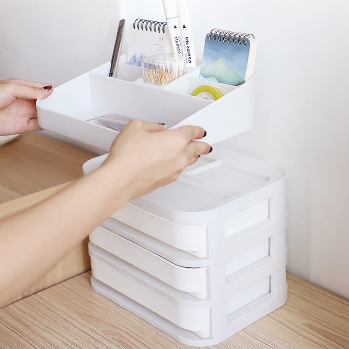 1/2/3 /4/5 Layer Cosmetic Makeup Organiser Holder Tidy Storage J