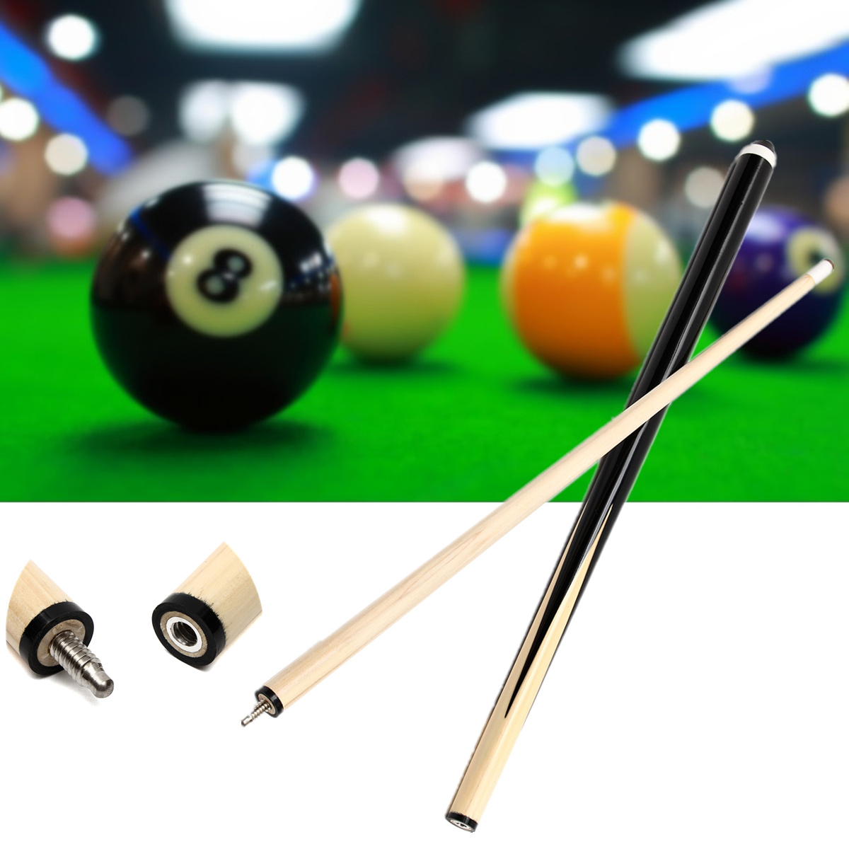 1 Pcs 48inch Short Wooden Pool Billiards Stick Snooker Billiard