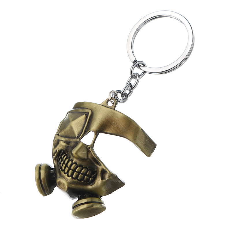 Cool Tokyo Ghoul Metal Mask Keychain Japanese Anime Pendant Key