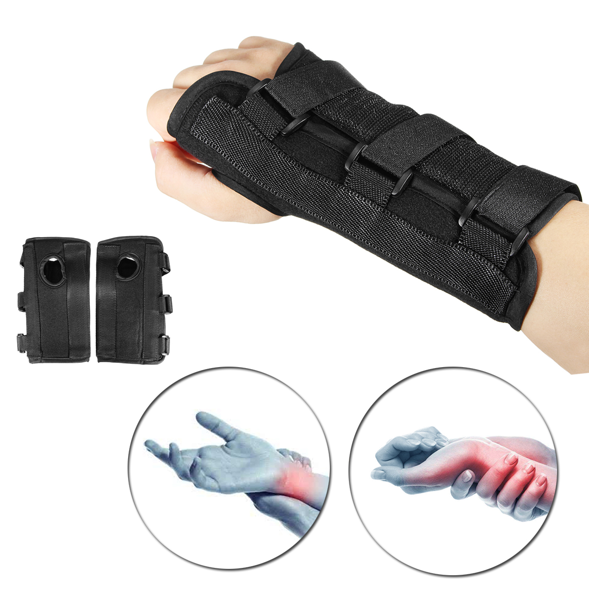 1 Pair Breathable Medical Carpal Tunnel Wrist Brace Right Left H