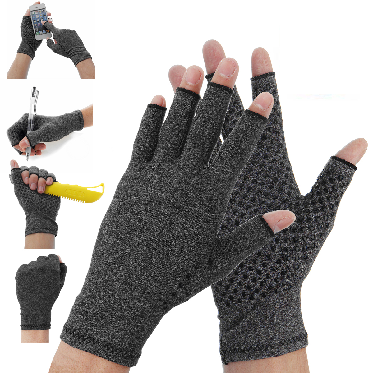 1 Pair Anti Arthritis Gloves Ease Pain Relief Gloves Hand Suppor