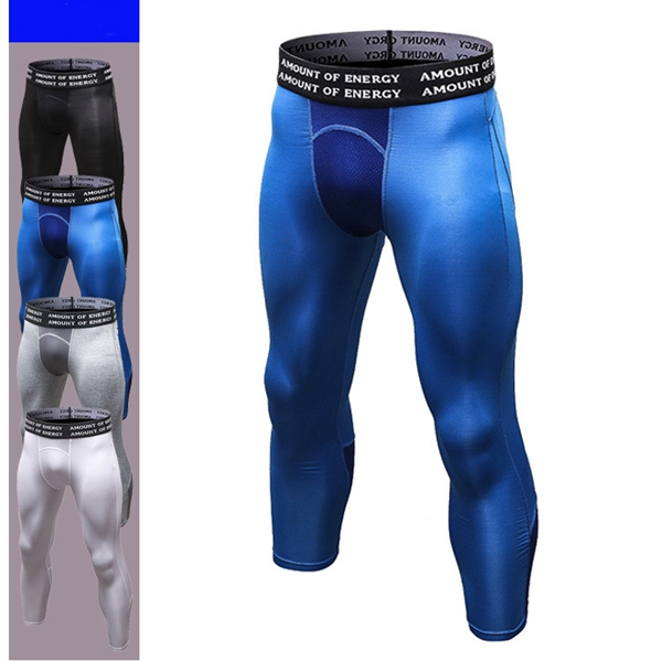 PRO Men's Sports Seven Point Pants Fitness Running Training Brea