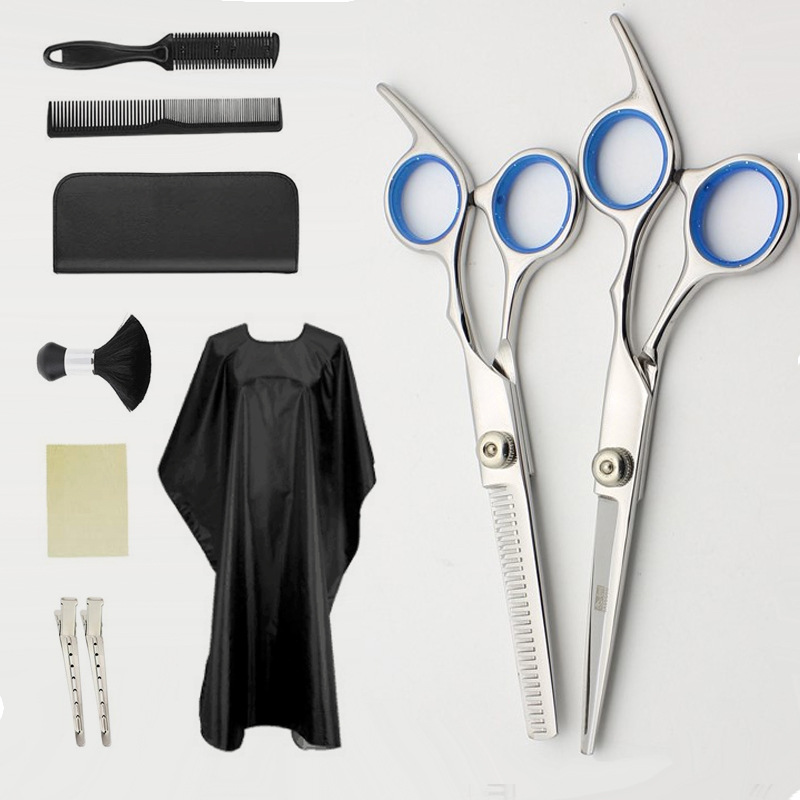 10 Pcs Tooth Shears Flat Shears Haircut Comb Set Household Hair