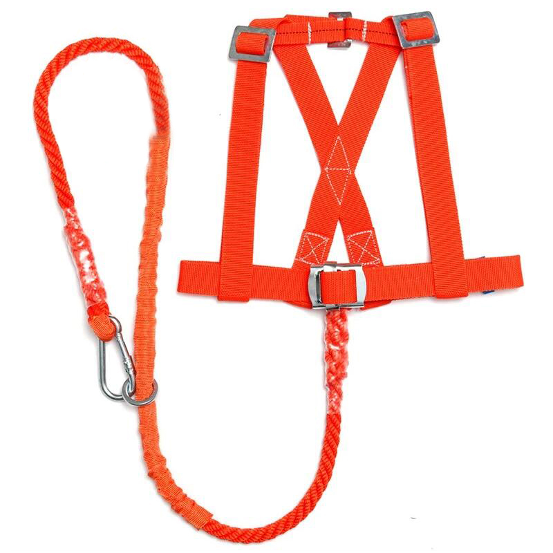 100kg Max Load Orange Aerial Work Rope Climbing Rope Belt Outdoo