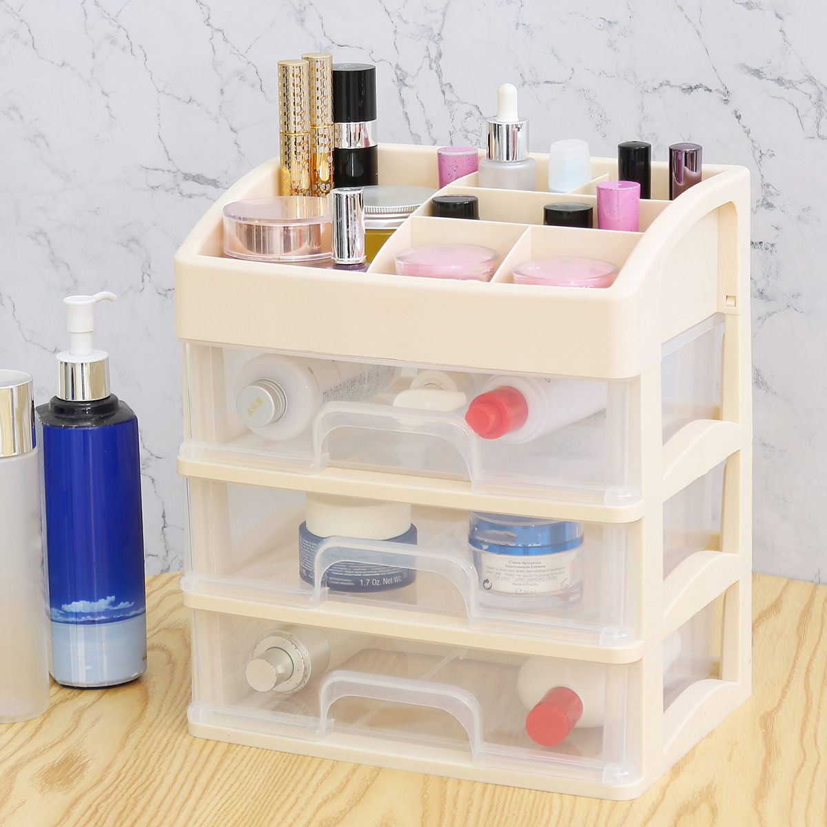 1/2/3 Layer Cosmetic Makeup Organiser Holder Tidy Storage Jewelr