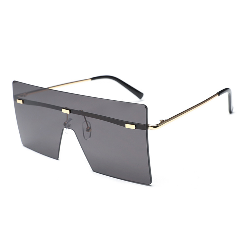Women and Man Square Glasses Fashion Solid Color Gradient Transp