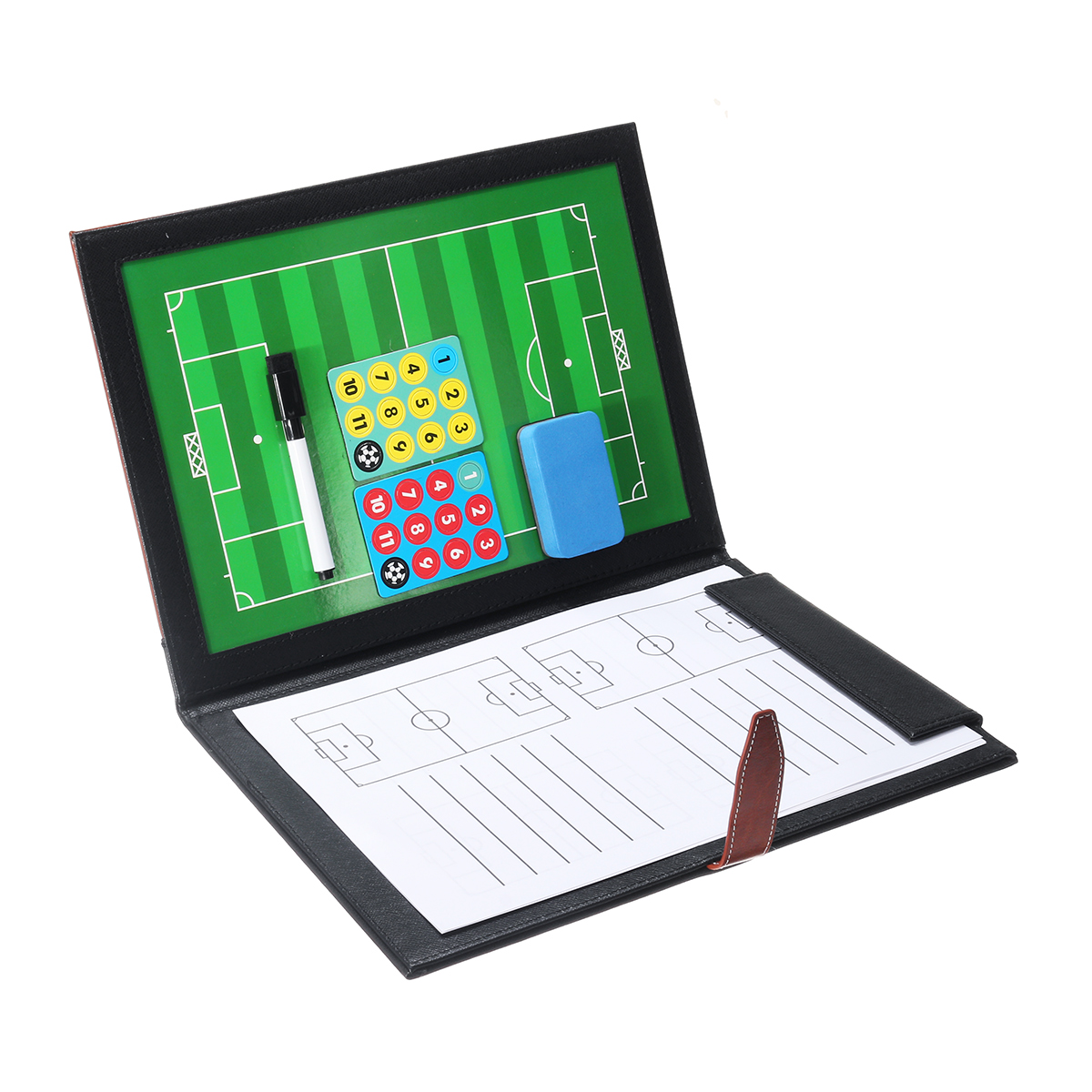 (Eleven Person Type) Magnetic Leather Football Board Soccer Trai