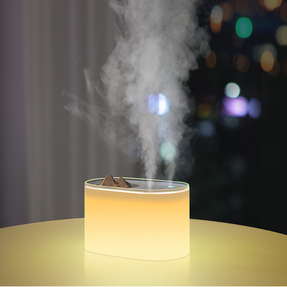1000ml 7 Colors LED Light USB Ultrasonic Humidifier Double Spray
