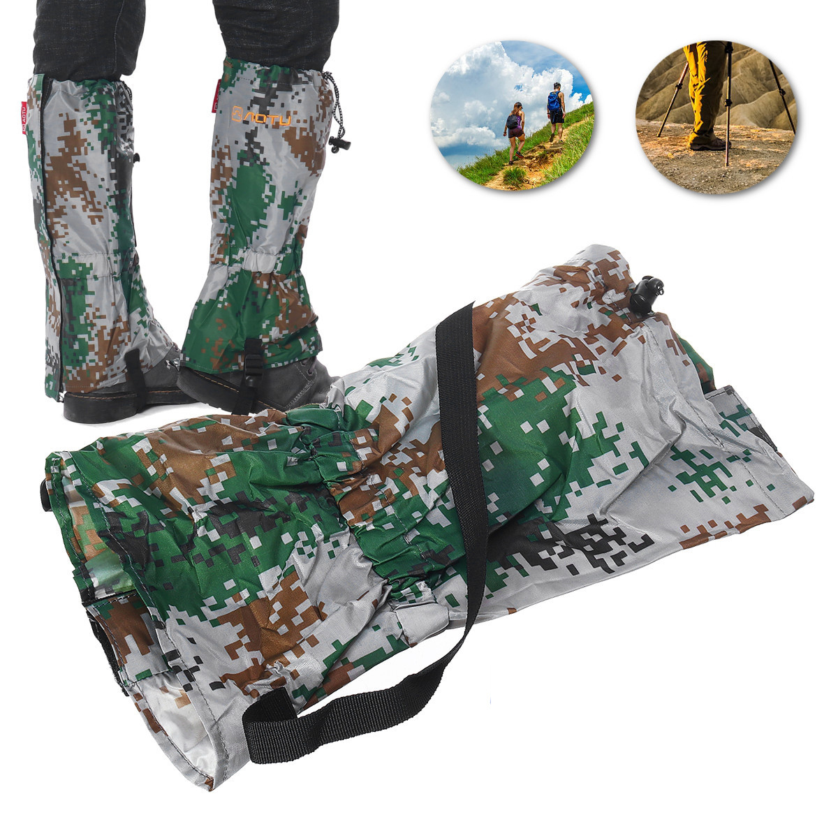 1 Pair Outdoor Hiking Shoe Covers Snowproof Waterproof Mud proof