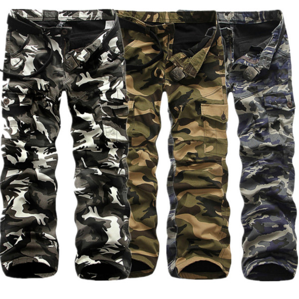 Winter Thick Fashion Cotton Warm Mens Cargo Pants Outdoor Casual