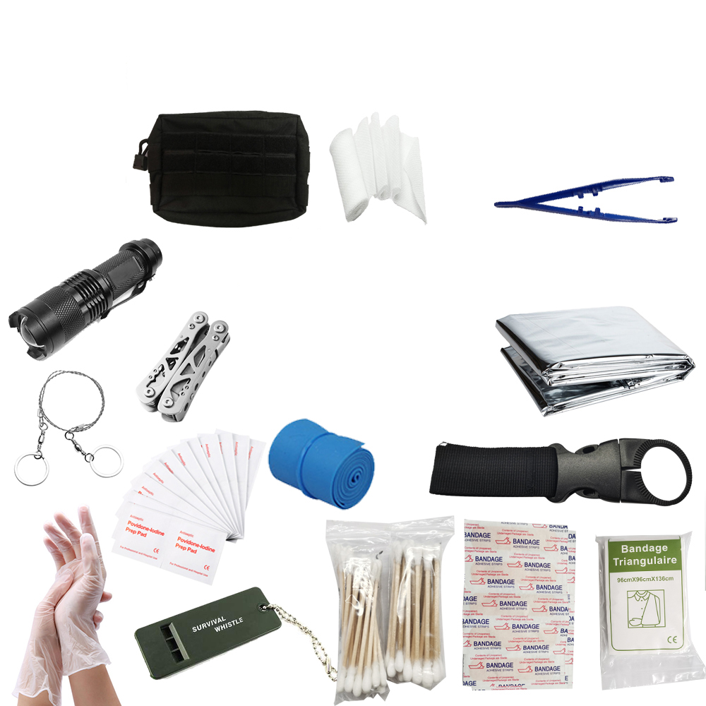 142PCS Emergency Bag Case First Aid Kit Emergency Survival Tools