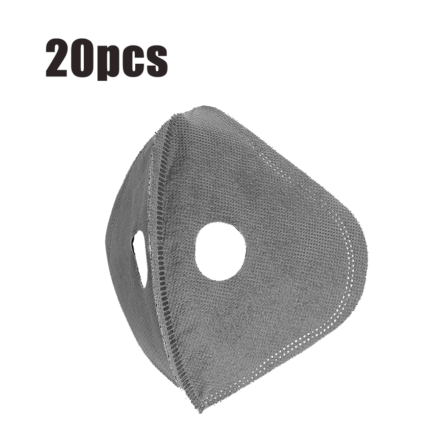 20Pcs 5-Layers Cycling Mask Filter Replacement Anti Dust PM2.5 A