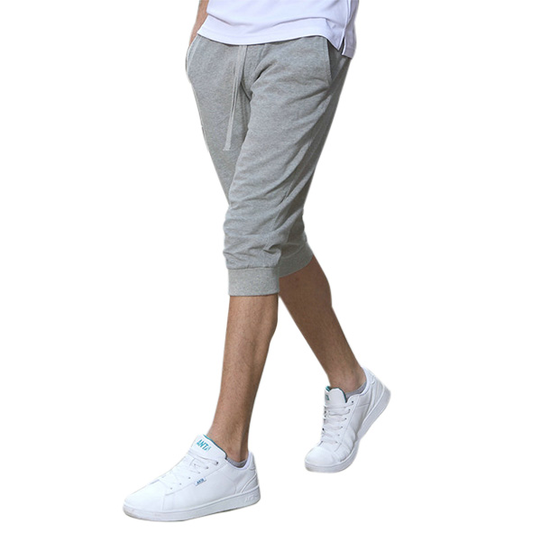 Summer Men's Casual Sports Shorts-pants Pure Color Cotton Thin B