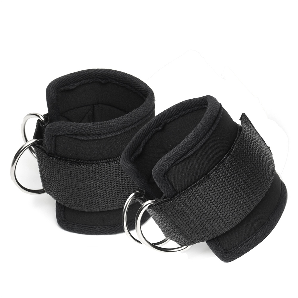 1 Pair Crossfit Ankle Support Cuffs Strap Resistance Band Latex