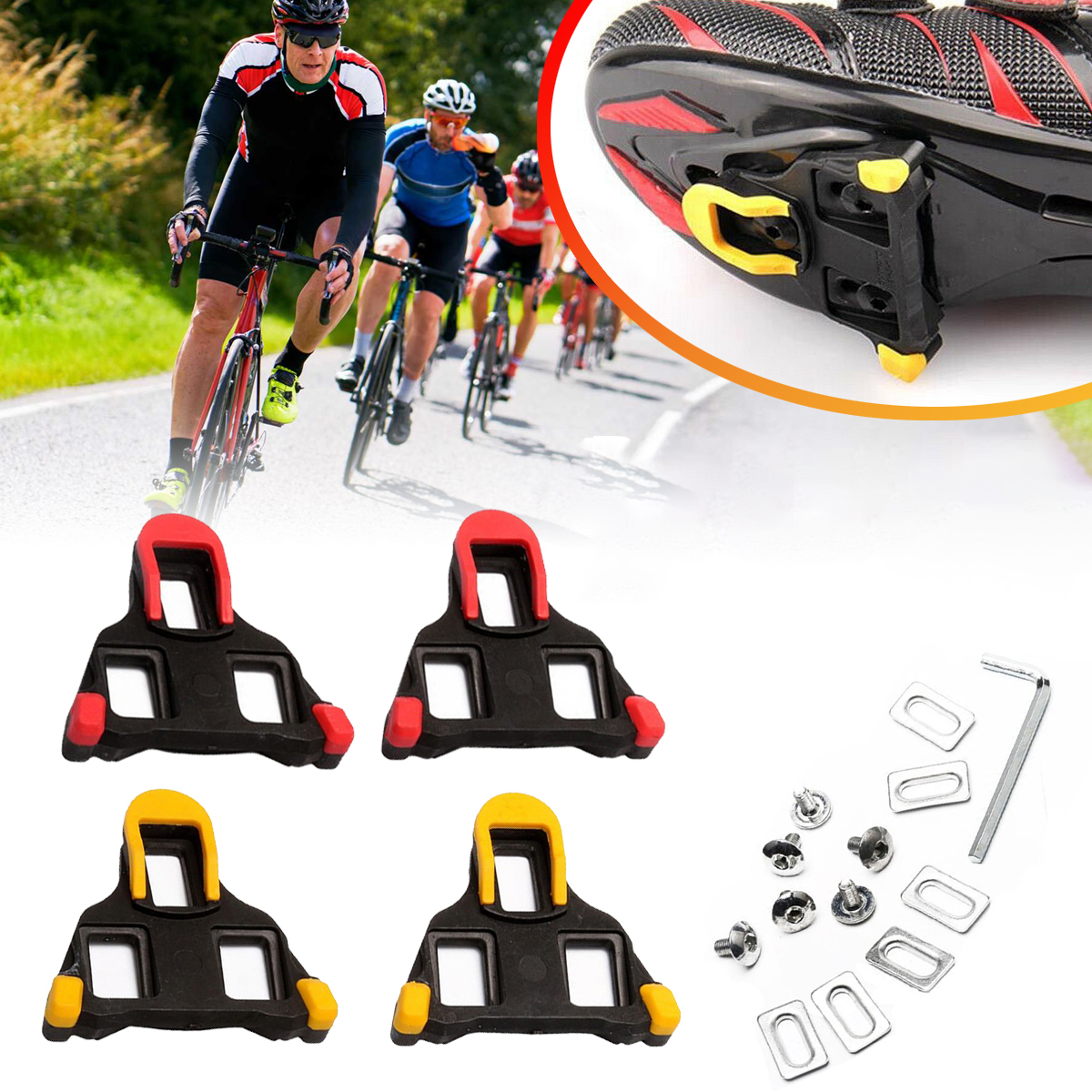 1 Pair Bike Shoes Pedals Breathable Anti-slip Cushioning Shoes C